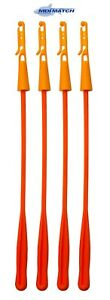 Pack of 4 MDI Orange Pole Fishing Elastic Winder Bung with Extractor (10-15mm)