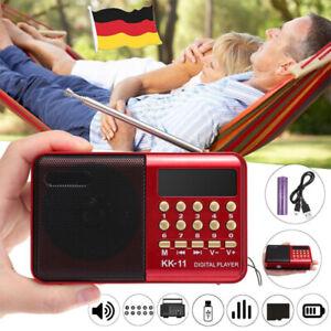 Tragbarer FM Radio Lautsprecher Mit Batteries Akku Mini Musikbox USB U-Disk DHL