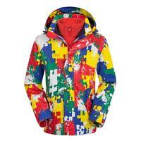 Kids Ski Jacket Snowboard D5 Red  Winter Waterproof Breathable S M L XL XXL