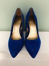 BCBG Suede Blue Heels Size 8.5