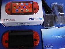 SONY 2016 PlayStation Vita Wi-Fi Console PCH-2000 ZA26 Metallic Red PS Vita New