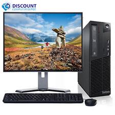 "Lenovo Thinkcentre Desktop i3-2100 4GB 250GB Win 10 home WiFi Key Mice 17"" lcd"