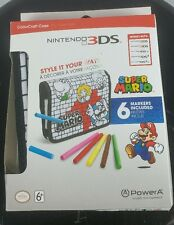 Super Mario Nintendo 3DS ColorCraft Case Works with ALL DS/3DS Models w/ Markers