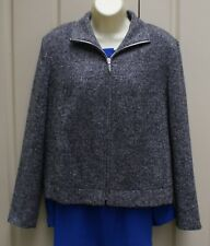 MARKS and SPENCER grey wool and silk blend jacket size 16