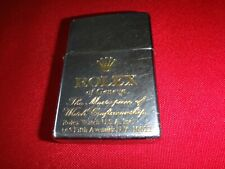 Year 1991 Polished Chrome Zippo Lighter With ROLEX Watch Logo *Good Condition*