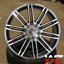 "22"" Split 10 Spoke Machined Gunmetal Wheels Fits Porsche Cayenne Q7 Touareg"
