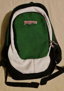 Jansport Backpack Black Green White Skate Retro