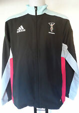 HARLEQUINS RUGBY PRESENTATION JACKET BY ADIDAS ADULTS SIZE LARGE BRAND NEW