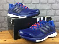 ADIDAS MENS UK 7 EU 40 2/3 BOOST SUPERNOVA GLIDE 8 TRAINERS BLUE ORANGERRP £120M