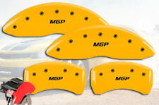 "2008-2009 Pontiac G8 Front + Rear Yellow ""MGP"" Brake Disc Caliper Covers 4pc Set"