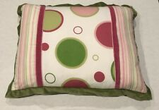 Decorative Bed Pillow Pink Green Houndstooth Stripe Dot Designer Eastern Accents
