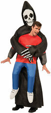 Adult Inflatable Reaper Costume Spooky Halloween Adult One Size Unisex