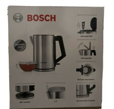 BOSCH TWK7101GB City Stainless Steel Kettle Limescale Filter 2500 Watt