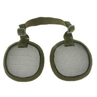 Lovoski Tactical Steel Mesh Ear Muffs Protection Accessory Hunting Green