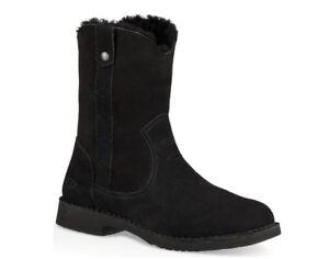NEW UGG WOMEN FASHION LARKER BOOTS SHOES WOOL BLACK 1099054