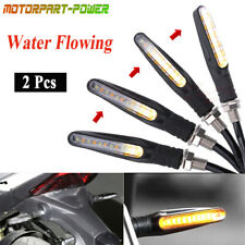 2pcs Motorcycle LED Turn Signal Lamp Sequential Flowing Indicator Light Amber