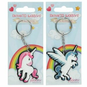 Unicorn Themed Metal PVC Useful Keyring Key Holder Gift Stocking Filler KEY35