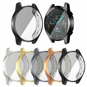 Huawei Watch GT 2 46mm Electroplate Watch Case TPU Full Cover Screen Protector