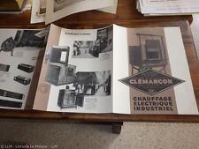 1930.Publicité chauffage électrique industriel (Clémançon).