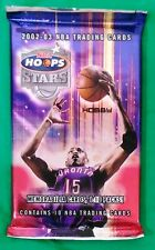 2002-03 Fleer NBA Hoops Stars Basketball Trading Cards Sealed Hobby Pack