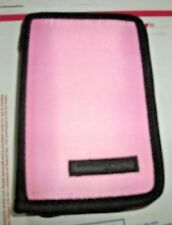 Pink and Black Nintendo DS Lite, DSi, and 3DS Folio Zipper Carry Case