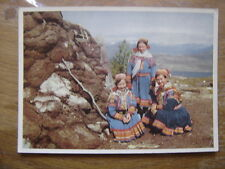 CP carte postale Postcard NORWAY Lapp girls at the Kvenangsfjell