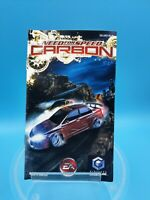 jeu video notice BE nintendo gamecube FRA need for speed carbon