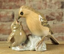 Bing & Grondahl Mother Feeding Baby Bird Porcelain Figurine #1869 No Reserve