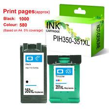 2 NON-OEM HP 350XL & 351XL INK CARTRIDGES FOR Photosmart C4345 C4380 C4599