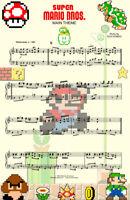 Super Mario Brothers Music Gamer 8-bit Art 11 x 17 High Quality Poster
