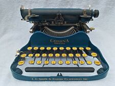 Vintage L C Smith & Corona No.3 Folding Typewriter Blue Corona Special WORKS!