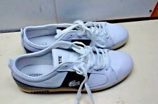 Lacoste Observe 2 White Black Leather Fashion Sneaker Lace Up Casual Shoe 13M 47