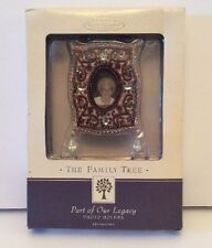 Hallmark Family Tree Photo Frame Holder Ornament Part Of Our Legacy Beaded New