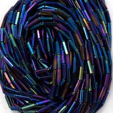 Size 3 Silver Lined Light Sapphire Bugle #CBC005 Hank