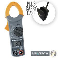 Kewtech KT200 Digital 400A 600V AC Current Voltage Clamp Meter LDMC25 Carry Case