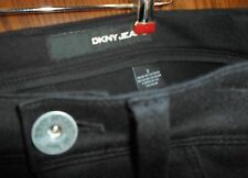 BLACK DKNY JEANS WITH ZIPPERS ON THE ANKLES