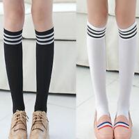 Women High Over The Knee Socks Opaque Japanese School Student Warm Long Stock
