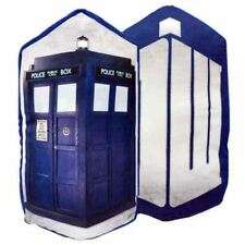 "Doctor Who DW Logo Reverse to TARDIS Cushion Pillow Big 18x14"" BBC Licensed New"