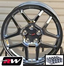 17 / 18 inch Chevy Corvette Wheels C5 Z06 Chrome Rims & Lug Nuts C4 1988-1996