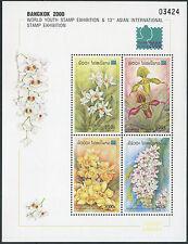 LAOS Bloc N°151** Bf Fleurs orchidées 2000, Flowers Orchids Sheet MNH