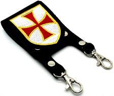 Knight Templar Masonic Belt Sword Scabbard Holder Crusader RED CROSS