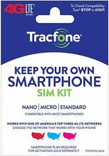 TracFone Keep Your Own Smartphone SIM Card Kit AT&T / Verizon / T-Mobile 4G LTE