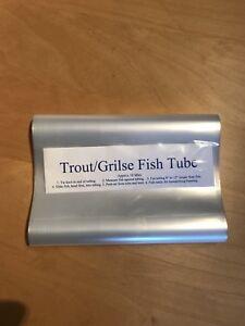Fish Freezer Tube Wrap Bags Trout/Grilse size 21cm deep. Approx 10m. Flat Packed