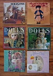 Antique Dolls Wall Calendars, 1985, 1991, 1995, 1996, 1997, 1998, 3 Unused 3 NIP
