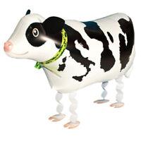 Walking Helium Shower Wedding Animal Foil Balloon Birthday Cow Shaped Party  W