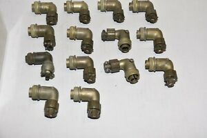lot of 14  AMPHENOL CANNON Right Angle Cable Sockets SIZE 12