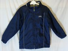 Boys Umbro Dark Blue Lightly Padded School Shell Jacket Coat Age 5-6 Years