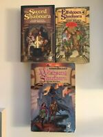 The Sword of Shannara Trilogy 3 Book Lot Set Terry Brooks Elfstones Wishsong