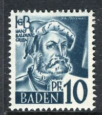 GERMANY ALLIED OCC BADEN;   1947 early pictorial Mint MNH unmounted 10pf.