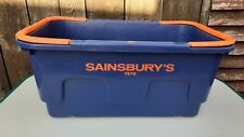 Sainsbury's 7870 blue and orange shopping basket